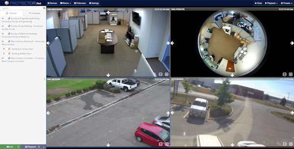 Cameras and Access Control Display
